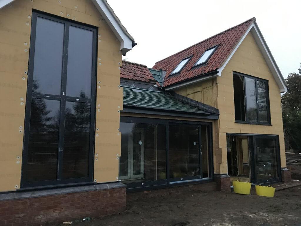 Completed Unilux timber aluminium installation