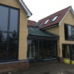 Completed Unilux timber aluminium installation